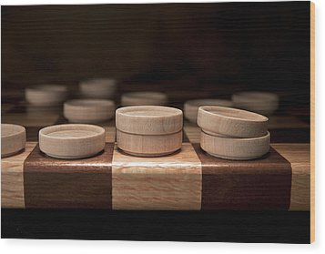 Checkers I Wood Print by Tom Mc Nemar