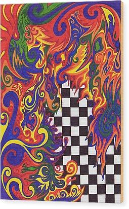 Checkers  Wood Print by Mandy Shupp