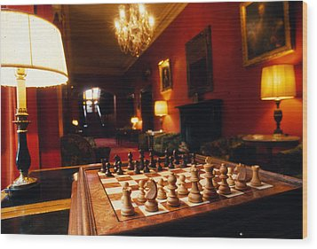 Checkmate At Dromoland Wood Print by Carl Purcell