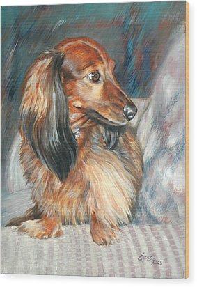 Cheech Wood Print by Linda Eades Blackburn