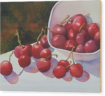 Cheery Cherries Wood Print