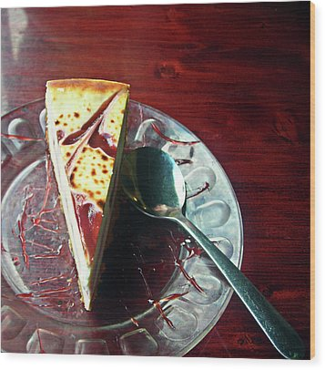 Cheesecake Wood Print by Michael McKenzie