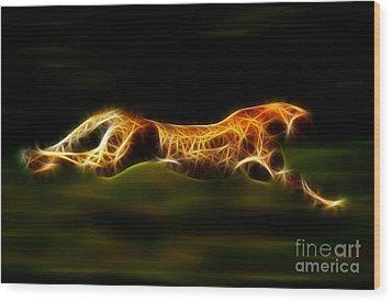 Cheetah Hunting His Prey Wood Print by Pamela Johnson
