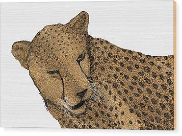 Cheetah Wood Print by Karl Addison