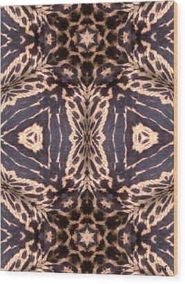 Cheetah Print Wood Print by Maria Watt