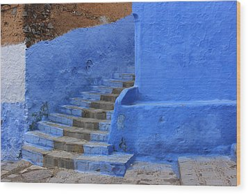 Wood Print featuring the photograph Chefchaouen by Ramona Johnston