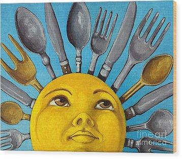 Chefs Delight - Cbs Sunday Morning Sun Art  Wood Print