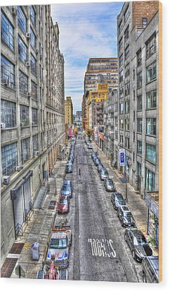 Chelsea Street From The High Line Wood Print by Randy Aveille