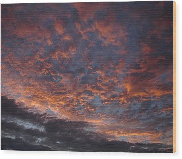 Chemical Sky Wood Print by Chad Natti
