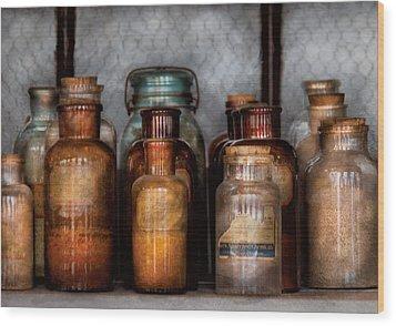 Chemist - Various Chemicals Wood Print by Mike Savad