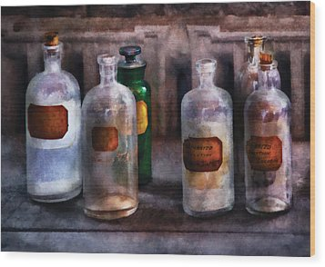 Chemistry - Saturated Solutions Wood Print by Mike Savad