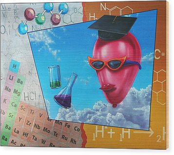 Chemistry Wood Print by Jack Knight