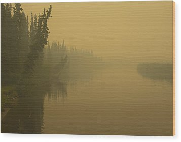 Wood Print featuring the photograph Chena River by Gary Lengyel