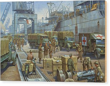 Cherbourg 1940. Wood Print by Mike  Jeffries