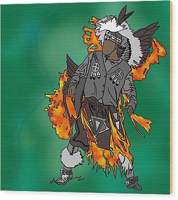 Cherokee 2 Wood Print by M Blaze Wolenski