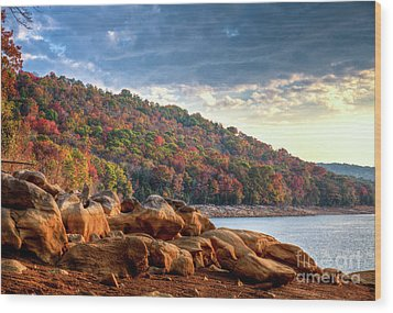 Wood Print featuring the photograph Cherokee Lake Color II by Douglas Stucky
