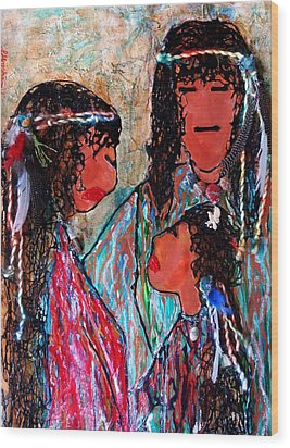 Cherokee Trail Of Tears Brave Family Wood Print by Laura  Grisham