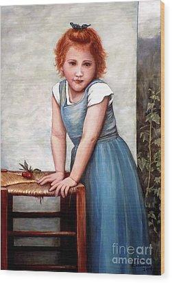 Cherries Wood Print by Judy Kirouac