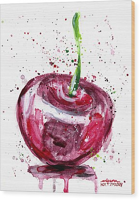 Cherry 1 Wood Print by Arleana Holtzmann