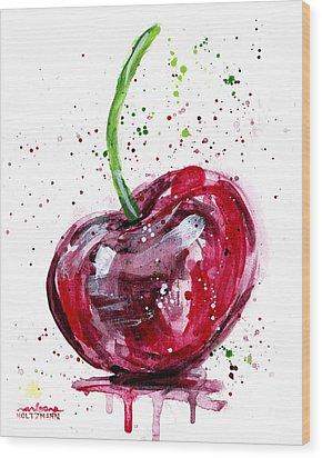 Cherry 2 Wood Print by Arleana Holtzmann