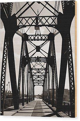 Cherry Avenue Bridge Wood Print by Kyle Hanson