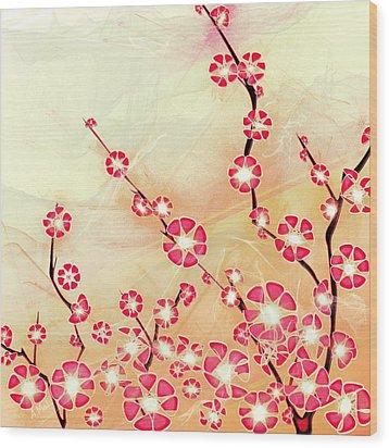 Cherry Blossom Wood Print by Anastasiya Malakhova