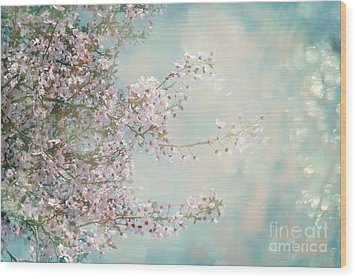 Wood Print featuring the photograph Cherry Blossom Dreams by Linda Lees