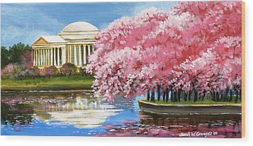 Cherry Blossom Festival Wood Print by Sarah Grangier