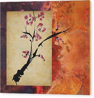 Cherry Blossom Wood Print by Rob Tullis
