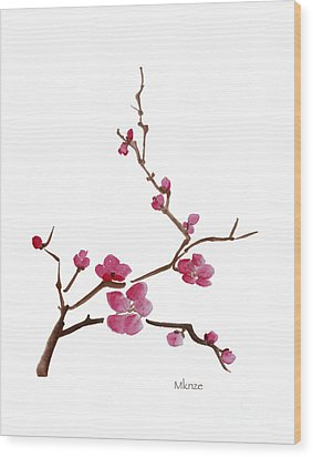 Cherry Blossoms 1 Wood Print by McKenzie Leopold