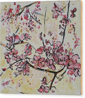 Cherry Blossoms 201751 Wood Print by Alyse Radenovic