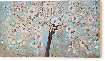 Cherry Blossoms Wood Print by Jolina Anthony