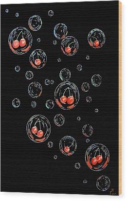 Cherry-bubs Wood Print