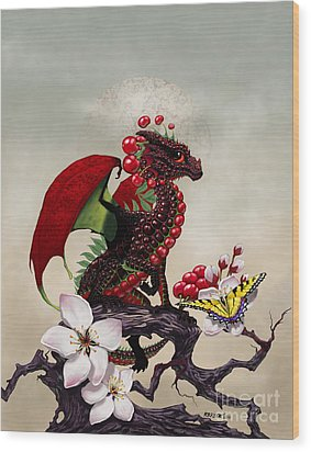Cherry Dragon Wood Print by Stanley Morrison