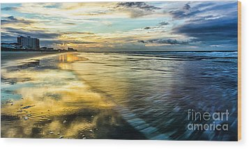 Cherry Grove Golden Shimmer Wood Print by David Smith