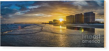 Cherry Grove Sunset Wood Print