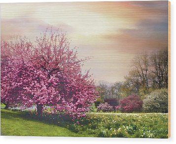 Wood Print featuring the photograph Cherry Orchard Hill by Jessica Jenney