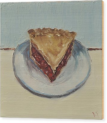 Cherry Pie Wood Print by Lindsay Frost