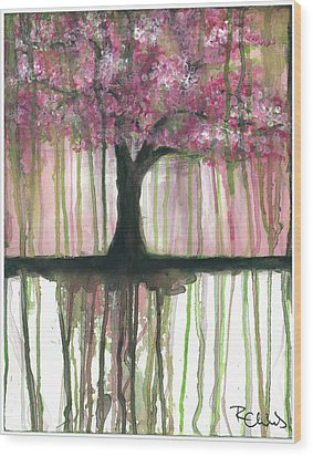 Fruit Tree #3 Wood Print by Rebecca Childs