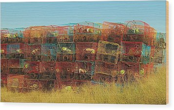 Chesapeake Bay Crabbing Wood Print