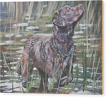 Chesapeake Bay Retriever Bird Dog Wood Print by Lee Ann Shepard