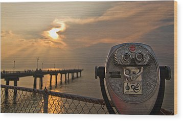 Chesapeake Bay Sunset Wood Print by Daniel Lowe