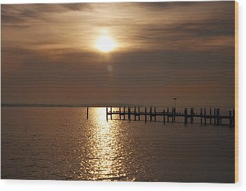 Chesapeake Morning Wood Print by Bill Cannon