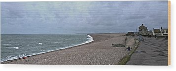 Chesil Beach November 2013 Wood Print by Anne Kotan