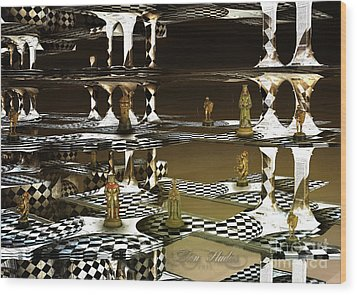 Chess Anyone Wood Print by Melissa Messick