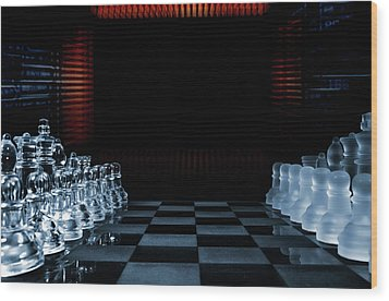 Wood Print featuring the photograph Chess Game Performed By Artificial Intelligence by Christian Lagereek