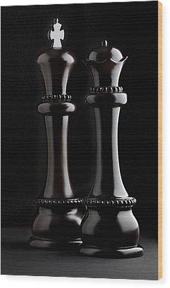 Chessmen I Wood Print by Tom Mc Nemar