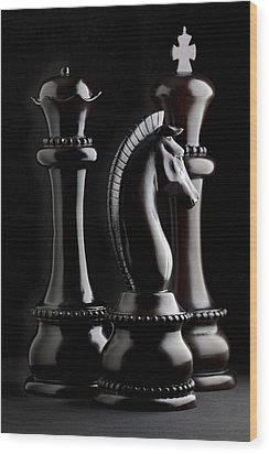 Chessmen II Wood Print
