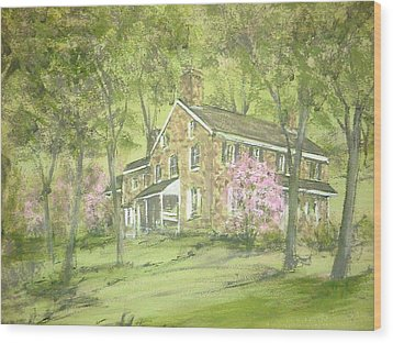 Chester Springs Wood Print by David Bruce Michener