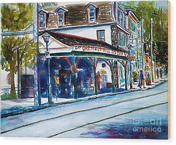 Chestnut Hill Station Wood Print by Joyce A Guariglia